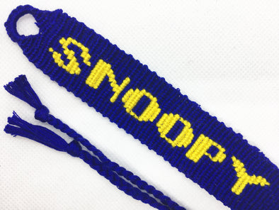 Snoopy: Title Friendship Bracelet (Custom Hand Made)