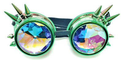 Spiked Fresh Forest Kaleidoscope Goggles