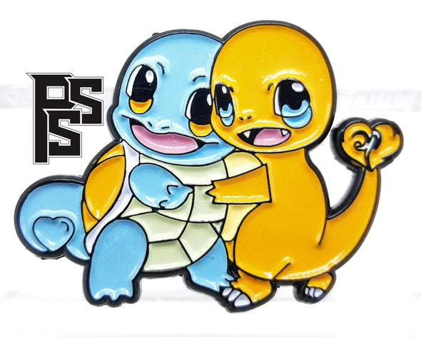 Squirtle and Charmander: Friends Forever Lapel Pin