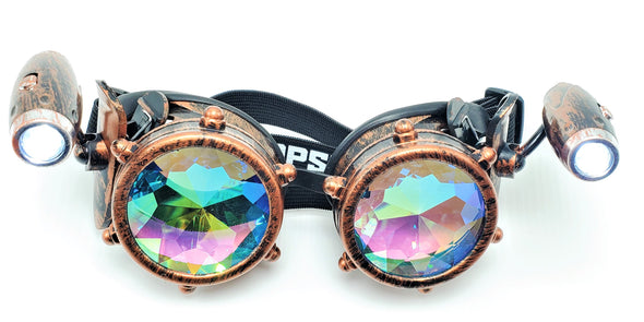 Steam-Punk Spotlight Kaleidoscope Goggles