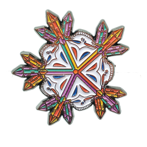 Grateful Dead Rainbow Snowflake Lapel Pin