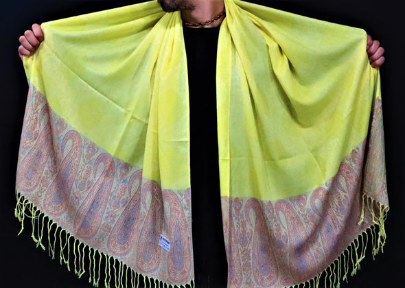 Yellow Leaf Pashmina