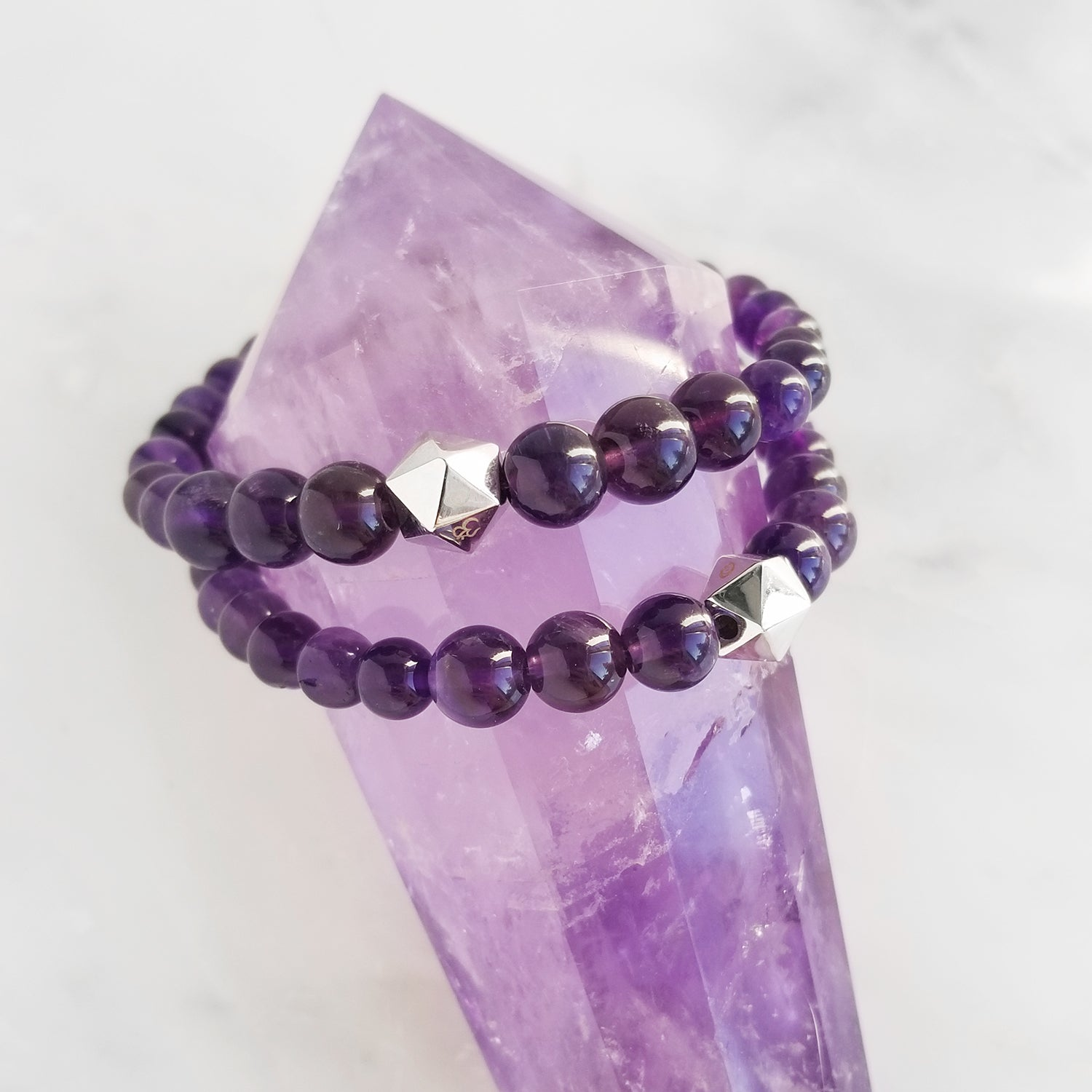Anahata intention bracelets amethyst