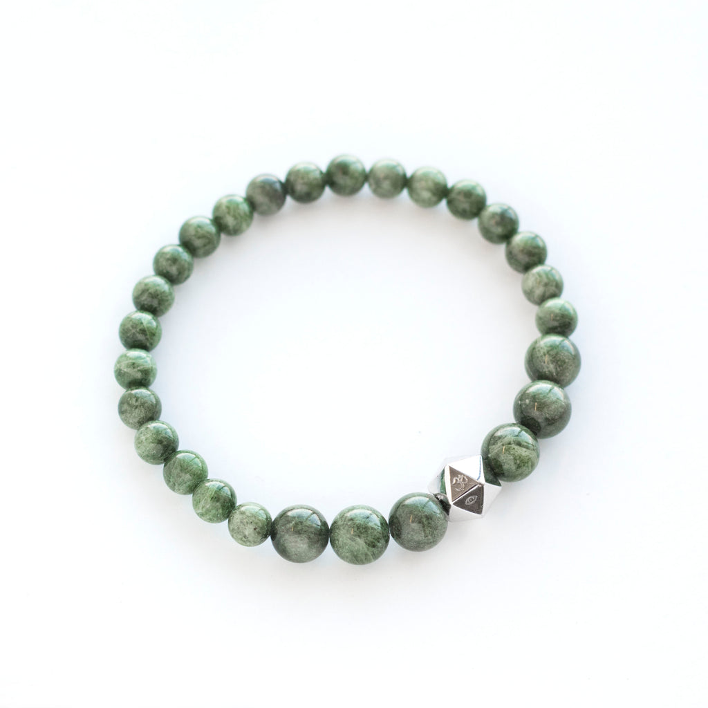 chrome diopside beaded bracelet intention bracelet Anahata