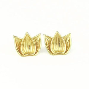 Anahata Lotus Blossom Earrings gold plated