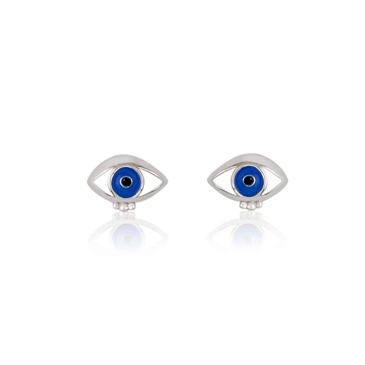 Visioning stud earring Evil Eye protection enamel earrings