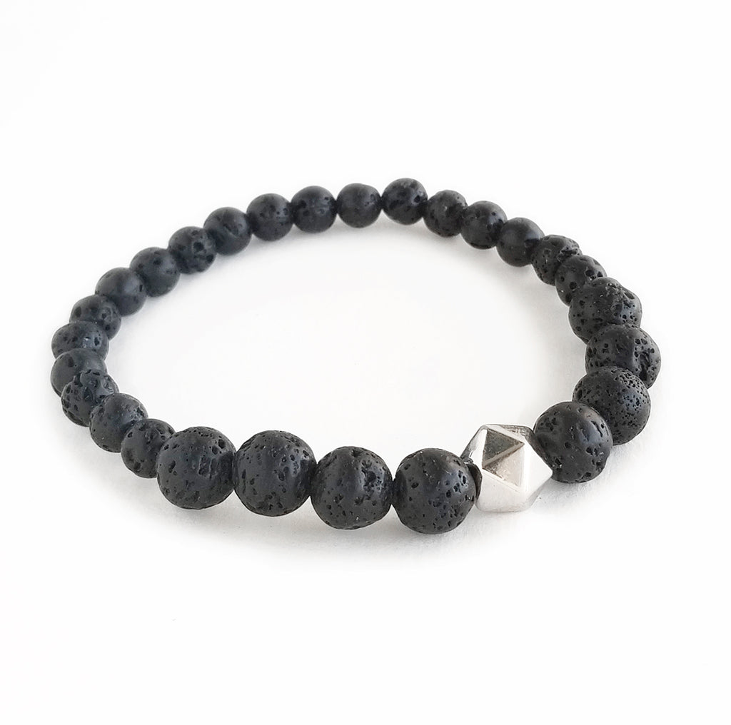 Black Lava Intention Bracelet