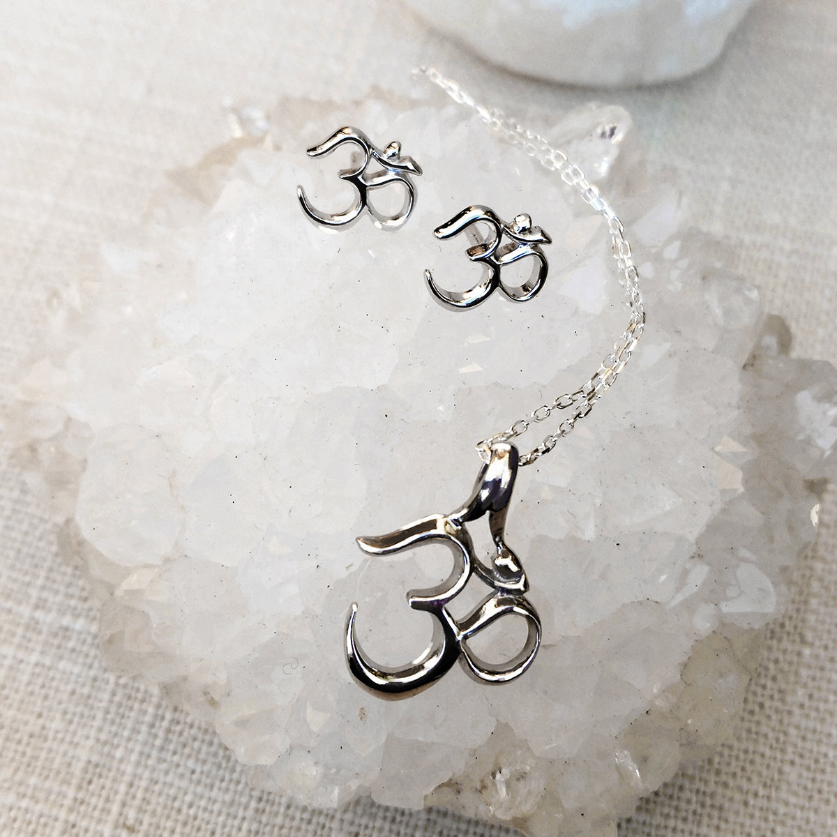 Mini Om Earrings