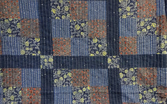 Multicoloured Blues Patchwork Quilt 11