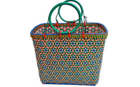 Open Mesh Bag - Blue and Orange
