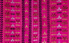 Hand Embroidered Narrow Scarf - Pink