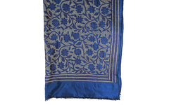 Kantha Wrap - Blue and White on Silk