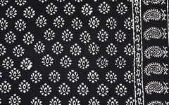 Block Print Tablecloth - Black and White