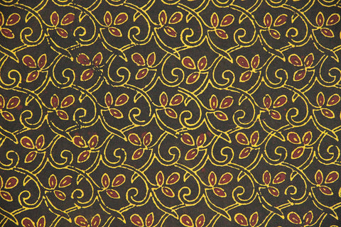 Yellow and Red Block Print Fabric