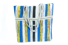 Recycled Woven Plastic Tote - Small