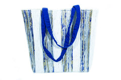 Recycled Woven Plastic Tote - Medium