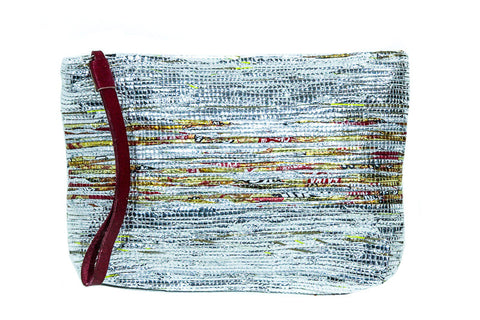 Recycled Woven Plastic Clutch