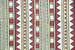 Green and Red Zig Zag Tablecloth