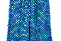 Silk Bandhani Scarf - Light Blue