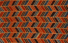 Naturally Dyed Block Print - Red and Black Zig Zag