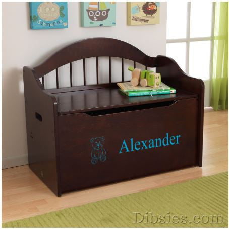 Premium Edition Personalized Toy Box - Name & Image