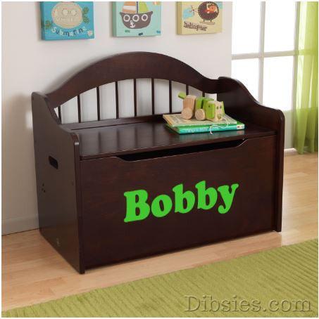Premium Edition Personalized Toy Box - Name