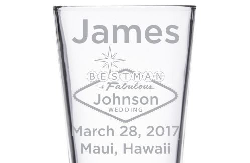 Beer Pint Glass - Fabulous Wedding Party