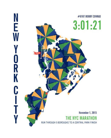NYC Marathon Map