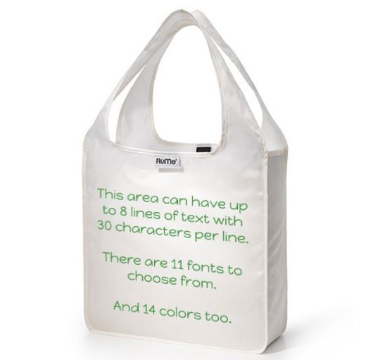 Mini Tote Pearl - Text