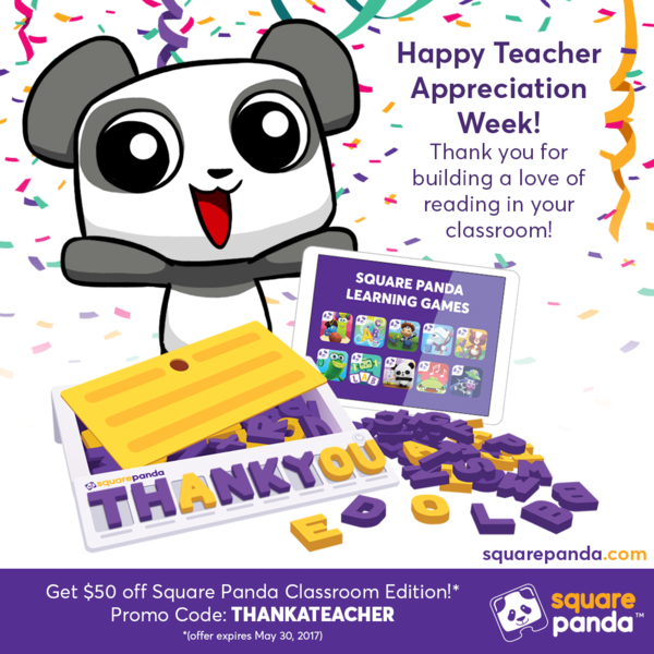 Square Panda Celebrates Teacher Appreciation Week!