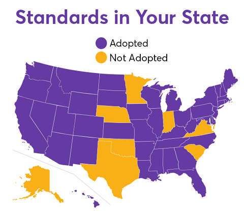 states that adopted common core standards