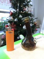 Amber Colour Fire Bottle with White Linework