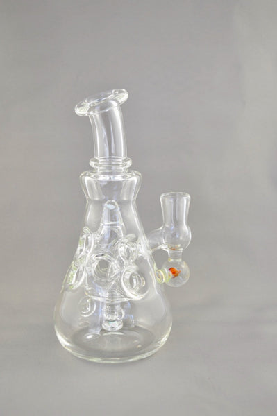 Clear Fab Beaker with Silver Chunk