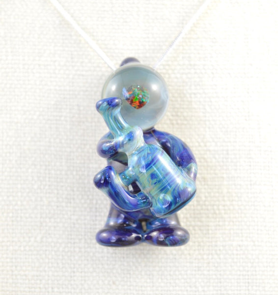 Dark Blue Glasstronaut Pendant