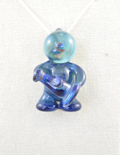 Light Blue Glasstronaut Pendant