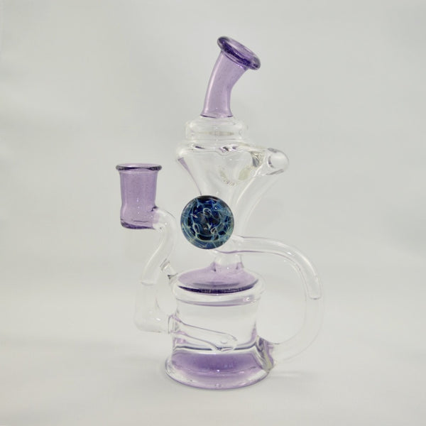 Purple Recycler with Fume Attachment