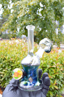 Oil Slick Fumed Minitube with Clear Neck