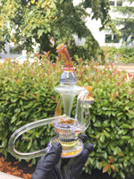 Sparkle Mai Tai and Ultramarine Blue over Pink Lollipop Recycler
