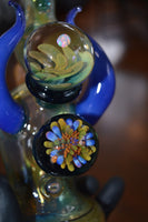 Rainbow Ghost Fume Mini Tube with Blue Horns