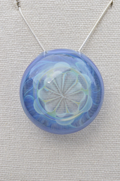 Light Cobalt and Silver Fume Pendant