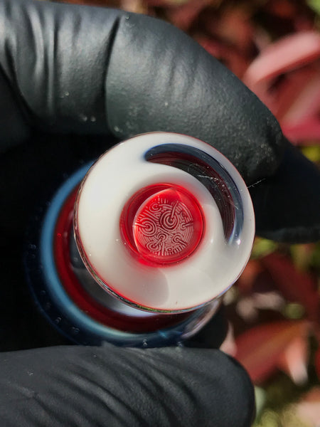 White, Blue and Red Bubble Cap