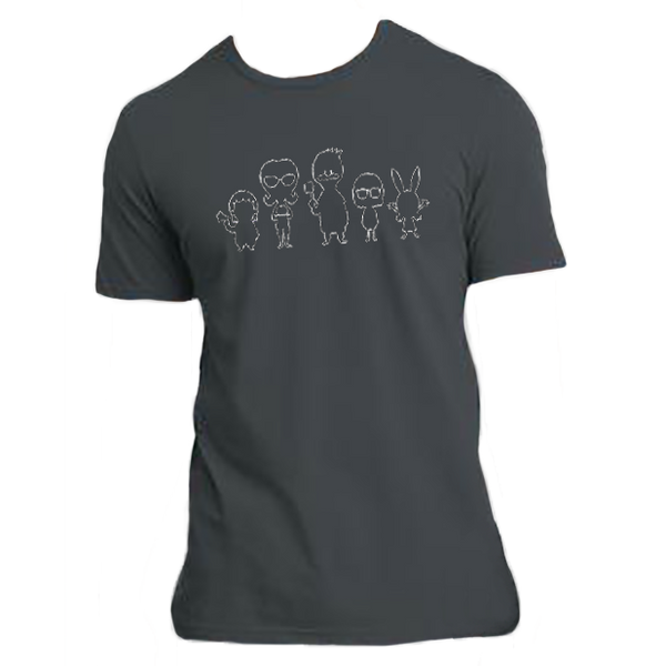 2015 Bob's Burgers Family Outline T-Shirt