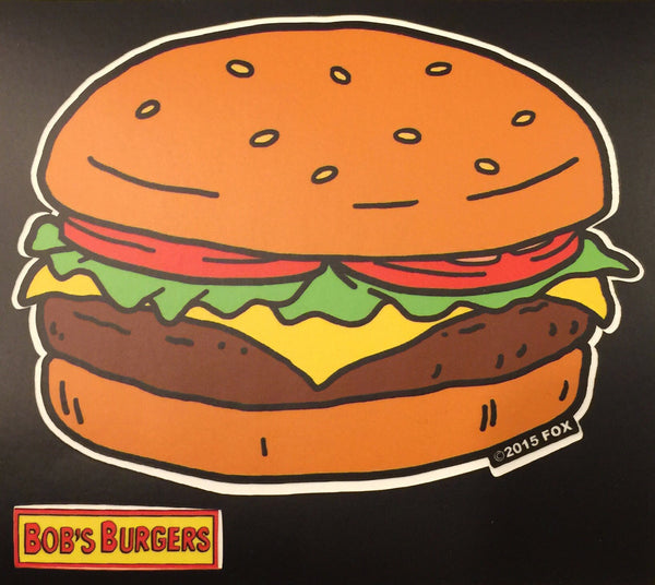 Burger and Logo Sticker (3 Pack)