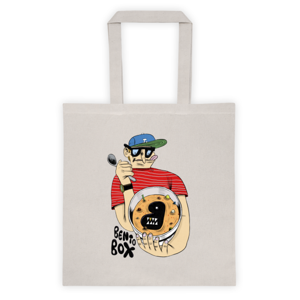Bento Box Ken Garduno Canvas Tote Bag (in Natural)