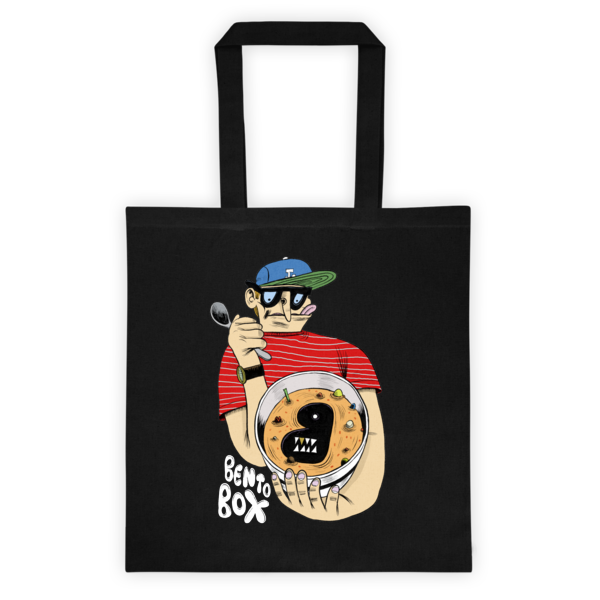 Bento Box Ken Garduno Canvas Tote Bag (in black)