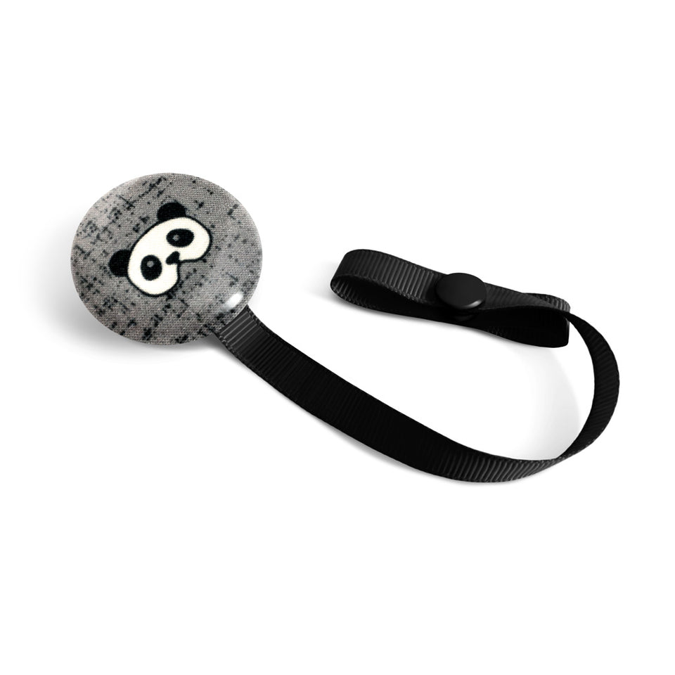 Attache à suce Lolikö Panda gris (motif : littlearrowdesign)