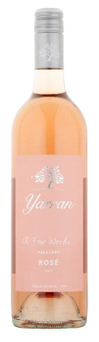 Yarran A Few Words Pale Dry Rosé 2017