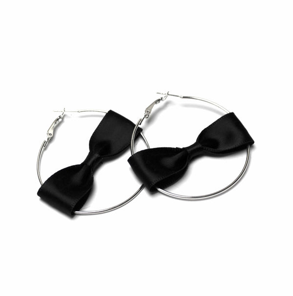 Coax Bow Hoop Earrings