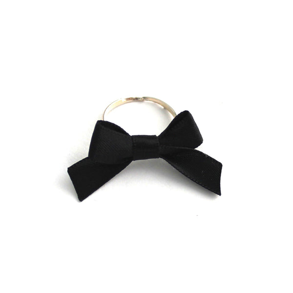 Blush Black Bow Ring