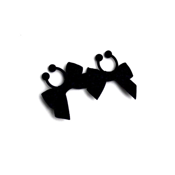 Black Bow Nipple Clamps
